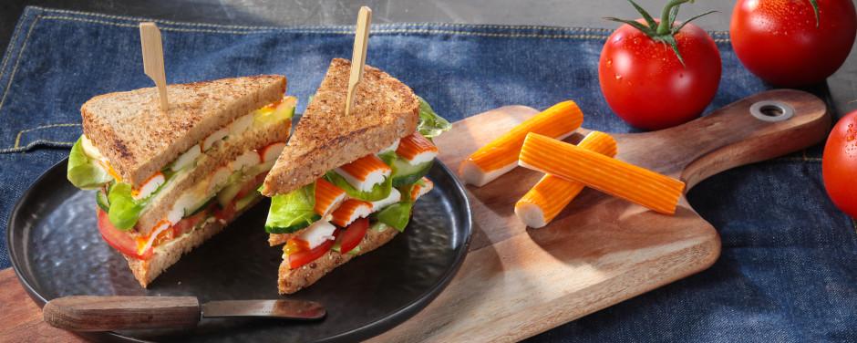 Club sandwich au surimi