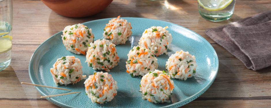 Bouchées apéritives au surimi